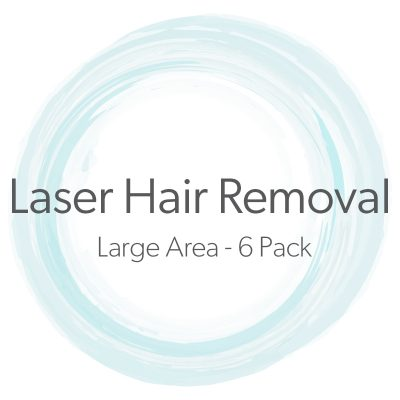 Laser Hair Removal Large Area 6 Pack