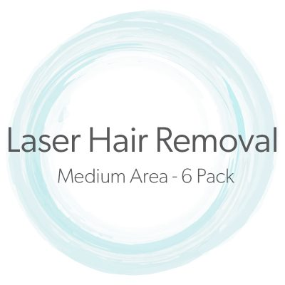 Laser Hair Removal Medium Area 6 Pack